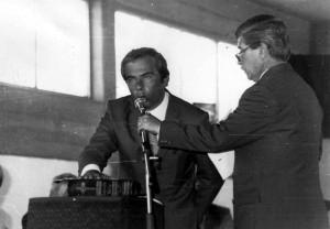 Fernando Arnedo toma juramento a Juanjo Alvarez, fue el 10 de diciembre de 1995.
