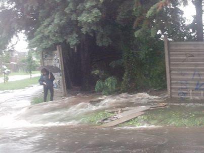 Cemeterio Parque de Hurlingham Inundacion