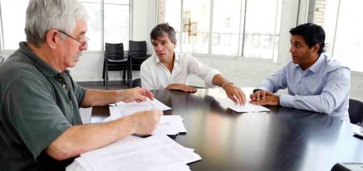 Juan Zabaleta con Mariano Puccio
