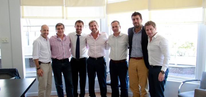 Lucas Delfino almuerza con candidatos del PRO