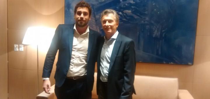 Lucas Delfino y Mauricio Macri