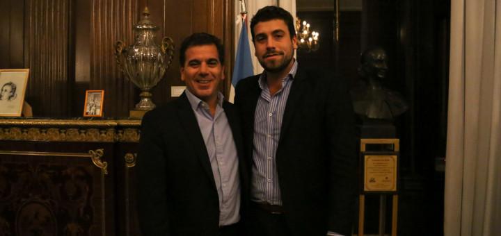 Lucas Delfino recibio apoyo de Cristian Ritondo