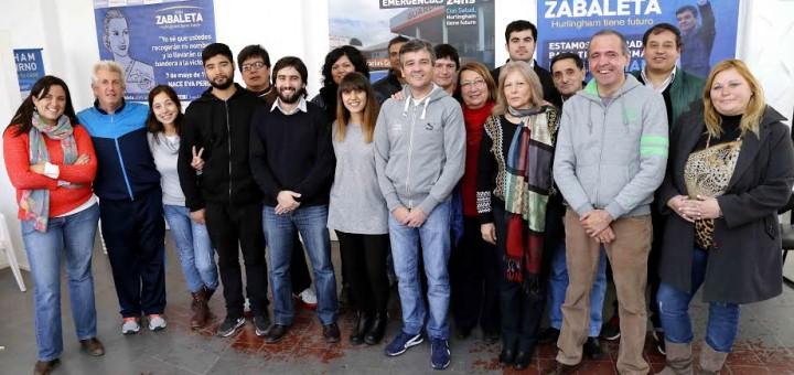 Zabaleta junto a candidatos a concejales del Frente para la Victoria