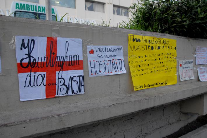Habituales reclamos vecinales frente al Hospital