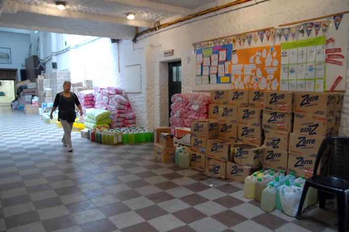 donaciones para inundados