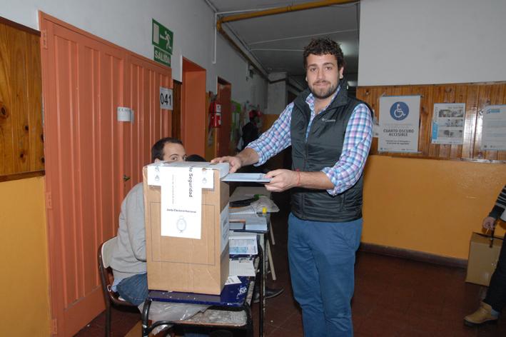 Lucas Delfino votó en las PASO