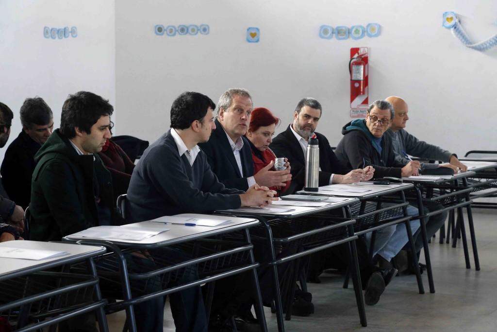 Perczyk con directivos docentes