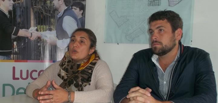 Belén Olivastri con Lucas Delfino