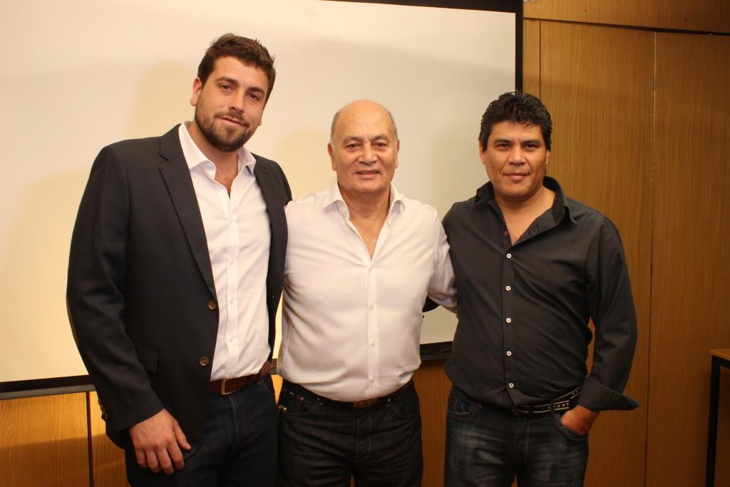 Lucas Delfino, Momo Venegas y Mauricio Gonzalez